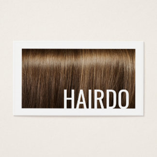Haircut Stylist Brown Hair Background Modern Card