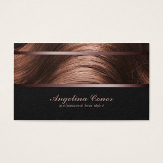 Haircut Stylist Brown Hair Business Card