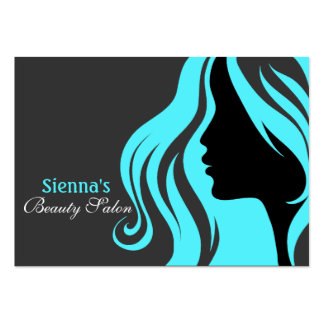 Hairdresser Appointment Card (Turquoise) Pack Of Chubby Business Cards
