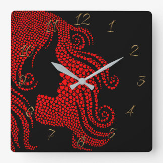 Hairdresser-beauty salon square wall clock