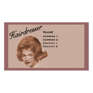 HAIRDRESSER - BIG HAIR PROFILE CARD - PROFESSIONAL BUSINESS CARDS