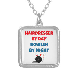Hairdresser by Day Bowler by Night Silver Plated Necklace