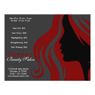 Hairdresser (Dark Red) 21.5 Cm X 28 Cm Flyer