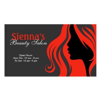 Hairdresser (firebrick) pack of standard business cards