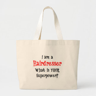 hairdresser large tote bag