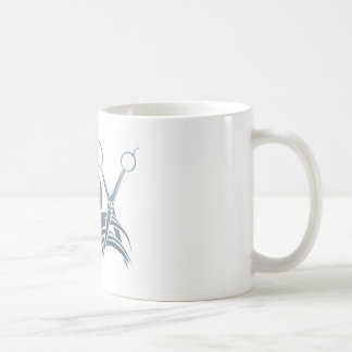 Hairdresser Man and Woman Scissors Concept Basic White Mug