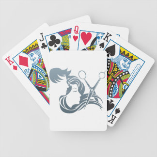 Hairdresser Man and Woman Scissors Concept Deck Of Cards