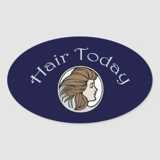 Hairdresser Oval Sticker