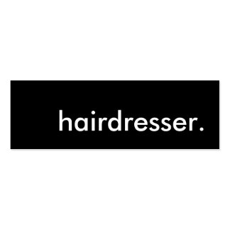 hairdresser. pack of skinny business cards