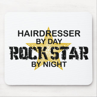 Hairdresser Rock Star by Night Mouse Pad