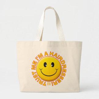 Hairdresser Trust Me Smiley Jumbo Tote Bag