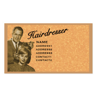 HAIRDRESSER - VERY PROFESSIONAL PROFILE (3A) BUSINESS CARDS