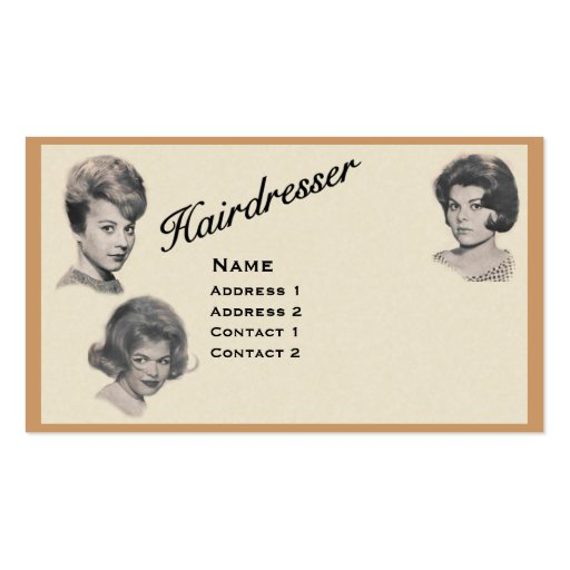 HAIRDRESSER - VERY PROFESSIONAL PROFILE CARD 1 BUSINESS CARDS