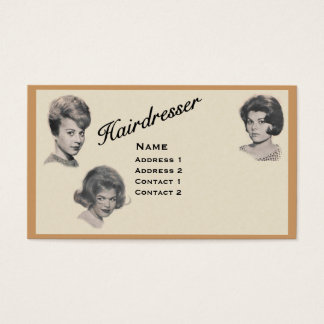 HAIRDRESSER - VERY PROFESSIONAL PROFILE CARD 2