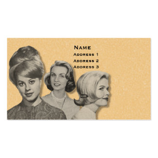 HAIRDRESSER - VERY PROFESSIONAL PROFILE CARD (2A) PACK OF STANDARD BUSINESS CARDS