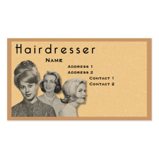 HAIRDRESSER - VERY PROFESSIONAL PROFILE CARD (2C) PACK OF STANDARD BUSINESS CARDS