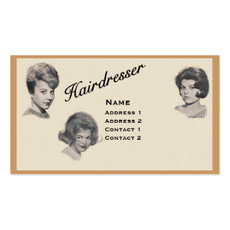 HAIRDRESSER - VERY PROFESSIONAL PROFILE CARD 3 BUSINESS CARD