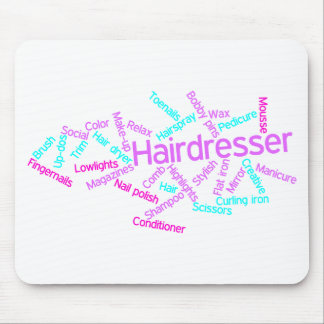 Hairdresser Word Cloud Mousepad