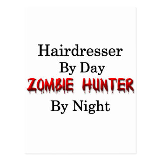 Hairdresser/Zombie Hunter Postcard