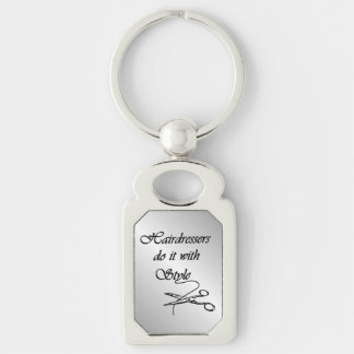 Hairdressers Do It With Style Key Ring
