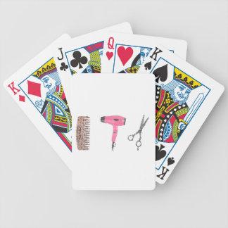 hairdressing hairdryer poker deck
