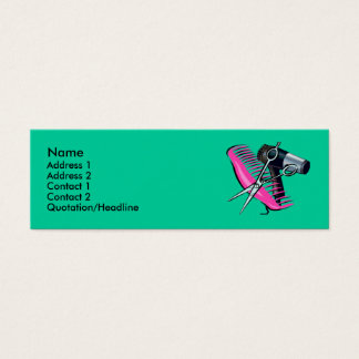 Hairdressing Mini Business Card