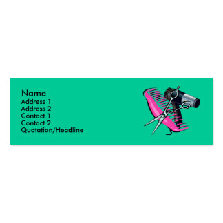 Hairdressing Pack Of Skinny Business Cards