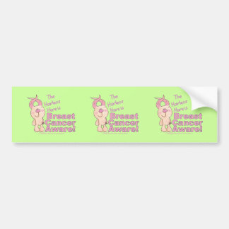 Hairless Hare is Breast Cancer Aware Bumper Sticker