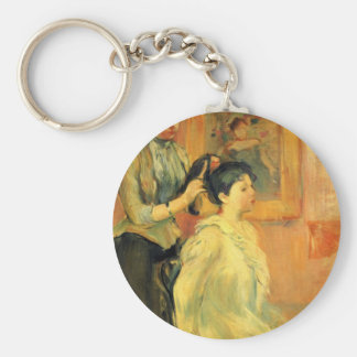 Hairstyle by Berthe Morisot Keychains