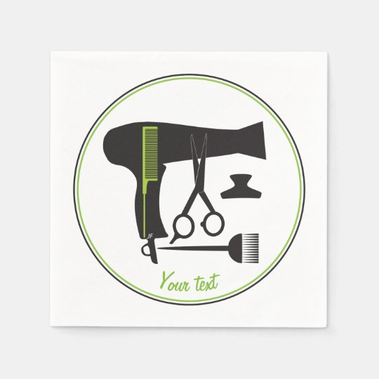 Hairstyle tools paper napkin