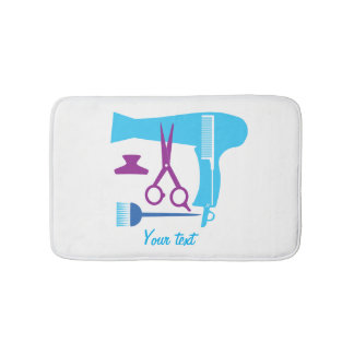 Hairstyles tools bath mat