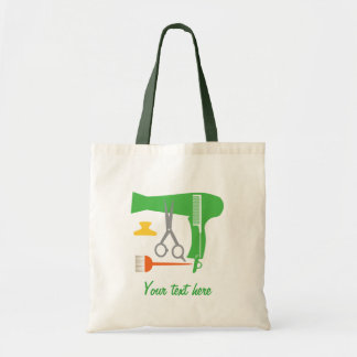 Hairstyles tools budget tote bag