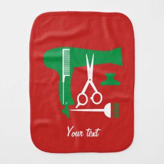 Hairstyles tools burp cloth