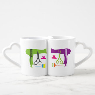 Hairstyles tools coffee mug set
