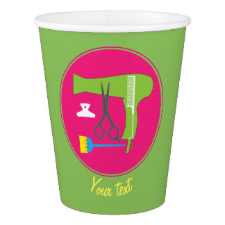 Hairstyles tools paper cup