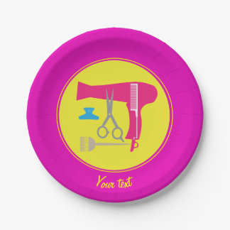 Hairstyles tools paper plate