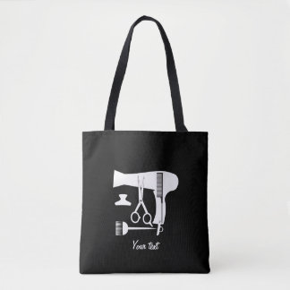 Hairstyles tools tote bag