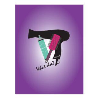 Hairstyles tools - What else? Postcard