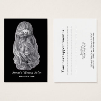 Hairstylist appointment card