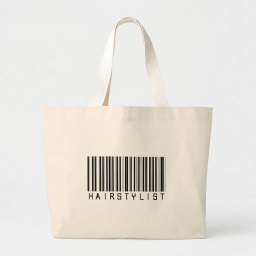 Hairstylist Bar Code Canvas Bags