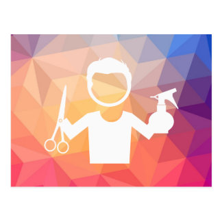 Hairstylist Barbers Pictograph Postcard