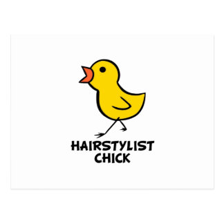 Hairstylist Chick Post Card