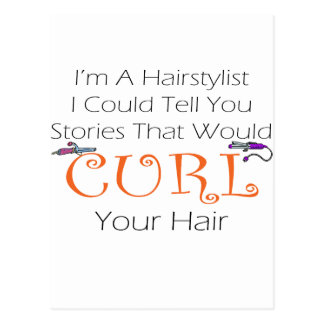 Hairstylist Curl Hair Postcards