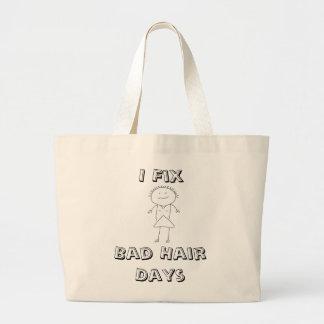 HairStylist Frenzy Jumbo Tote Bag