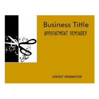 Hairstylist Salons & Spa Appointment Reminder Postcard