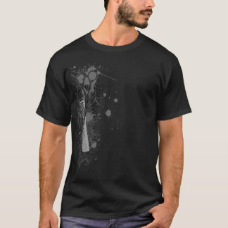 Hairstylist Scissors and Comb Splatter Shirt