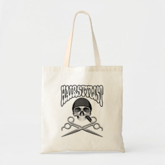 Hairstylist Skull Canvas Bags