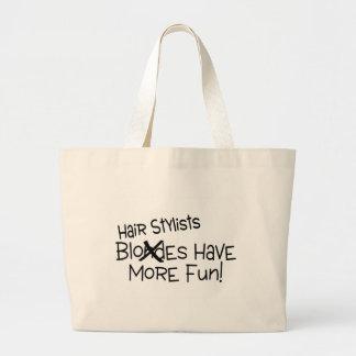 Hairstylists Have More Fun Jumbo Tote Bag