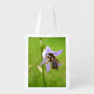 Hairy Footed Flower Bee Reusable Bag