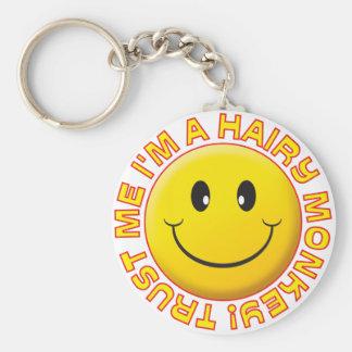 Hairy Monkey Trust Me Smile Key Ring
